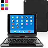 iPad Air 2 Keyboard Case, SnuggTM - [Black] Wireless Bluetooth Keyboard Case Cover [Lifetime Guarantee] 360° Degree Rotatable Keyboard For Apple iPad Air 2
