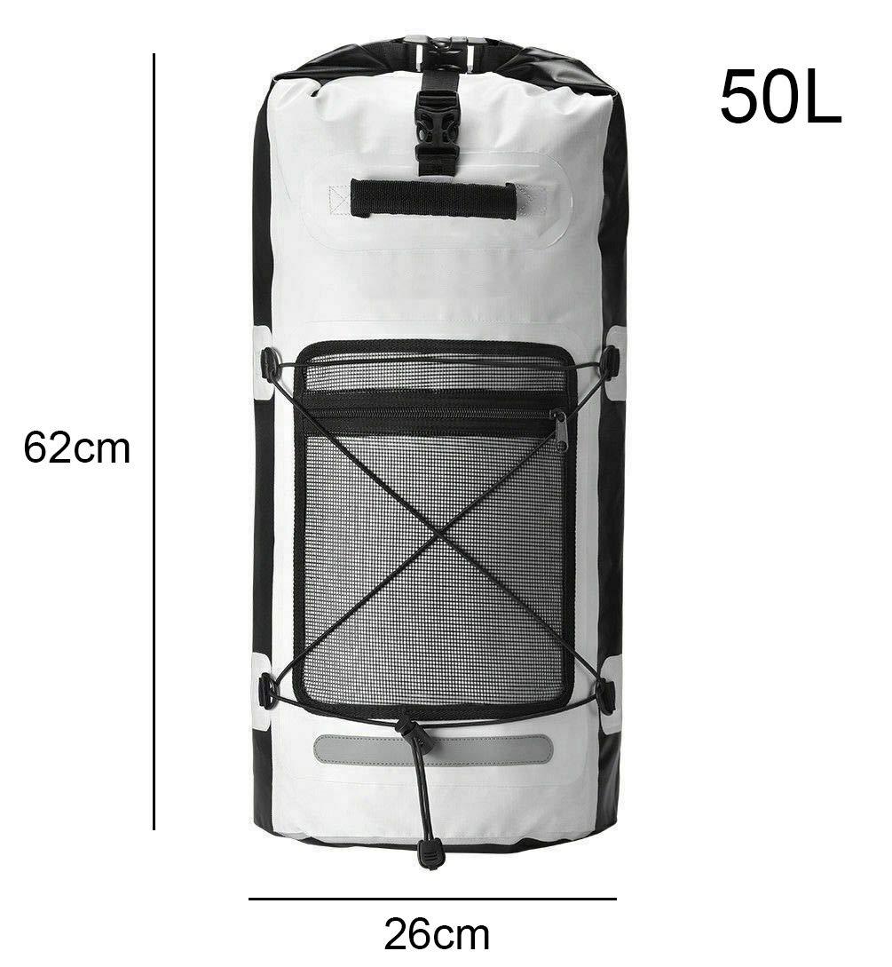 Zaino Sportivo Impermeabile XL 50L Sacca stagna Grande Borsa Impermeabile per Ciclismo Nuoto Kayak Escursioni Nautica