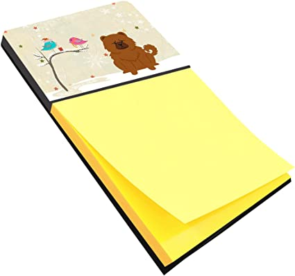 Multicolor BB2559SN Carolines Treasures Christmas Presents Between Friends Shih Tzu Red White Sticky Note Holder