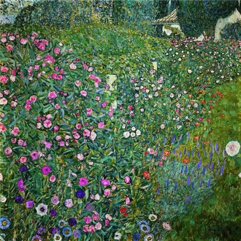 'Gustav Klimt,Italian Garden Landscape,1917' Oil Painting, 8x8 Inch / 20x20 Cm ,printed On Perfect Effect Canvas ,this Cheap But High Quality Art Decorative Art Decorative Prints On Canvas Is Perfectly Suitalbe For Game Room Decoration And Home Decor And (Diva Zebra Print Lunch Napkins)
