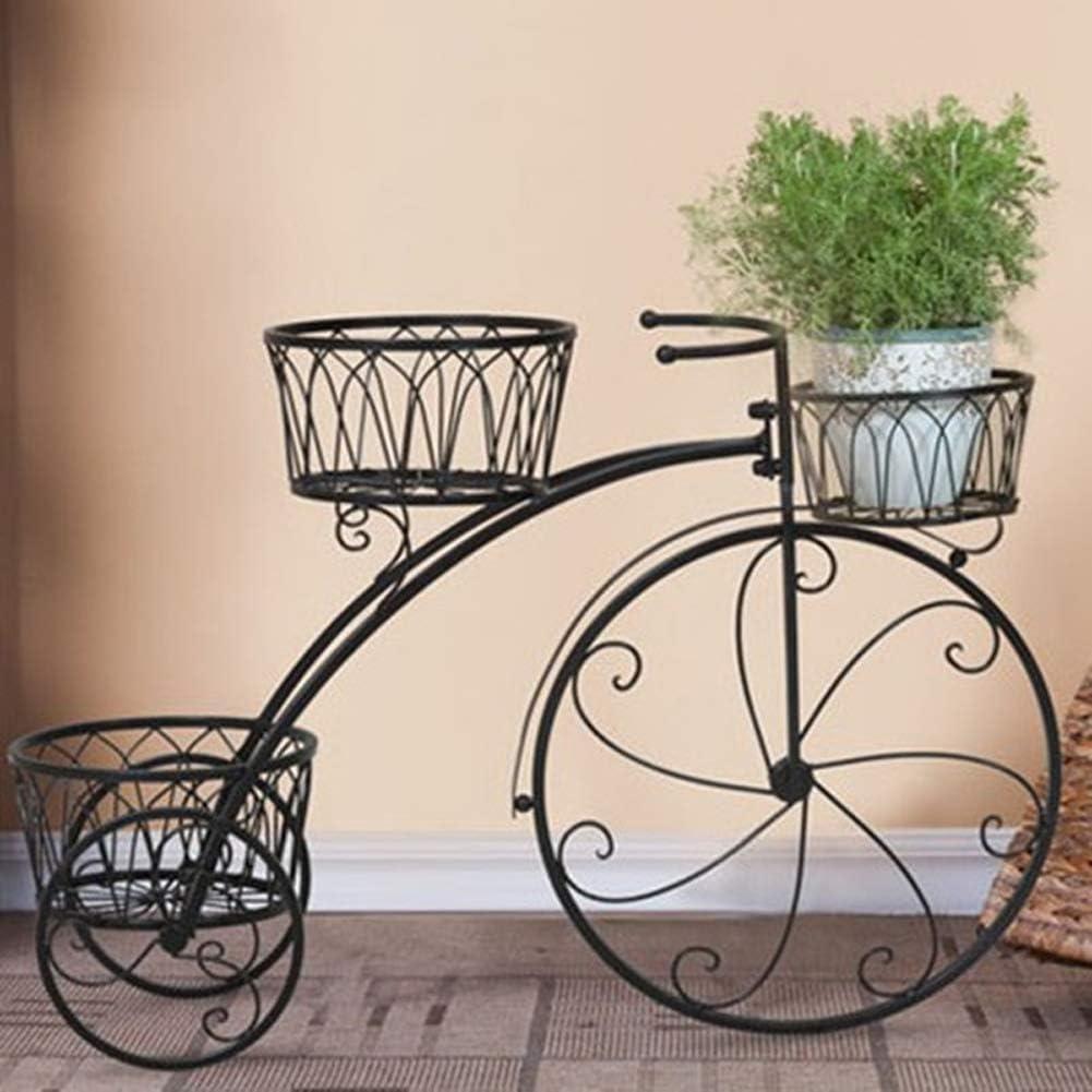 CLX Apoyo a la Flor del Metal de la Bici de la Puerta del plantador Decorativo de Hierro Forjado de la Planta en el jardín, terraza, balcón o Interior