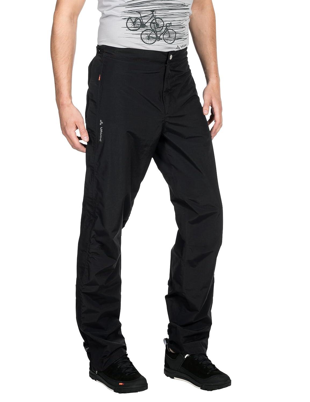 Vaude Men's 403430105200 Yaras Rain Zip IIパンツ、ブラック、S