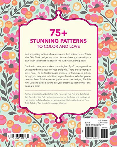 amazoncom the tula pink coloring book 75 signature designs in fanciful coloring pages 9781440245428 tula pink books