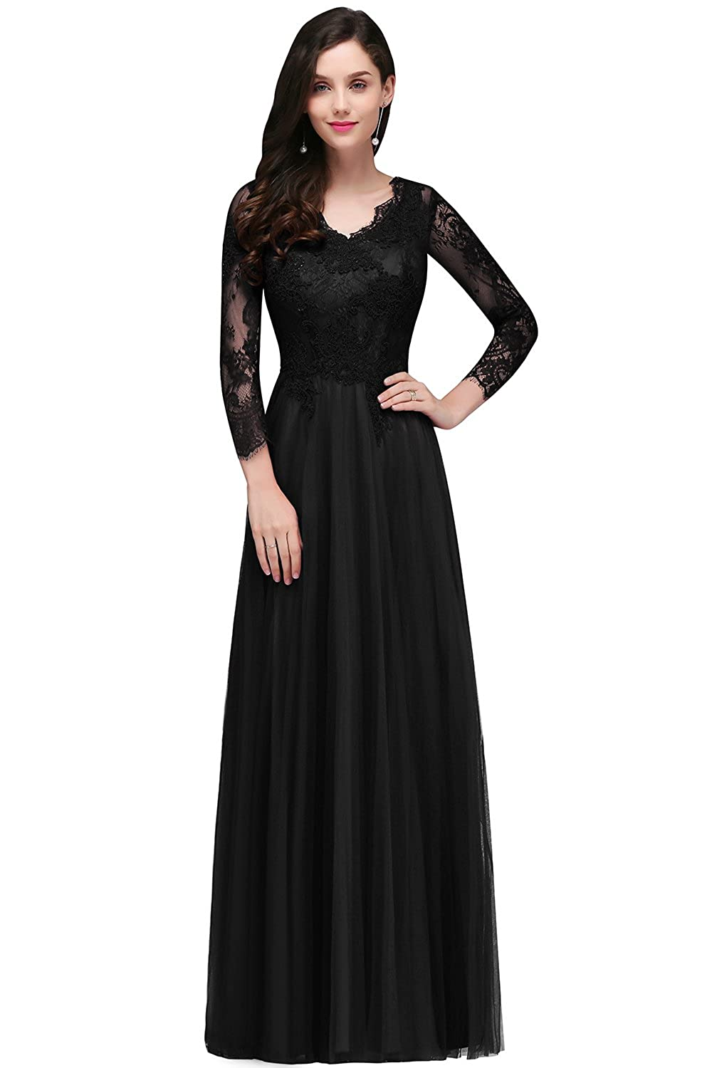 b020d21c208a0 Fabric: Lace Chiffon Imported Zipper closure. Start with this elegant yet  vintage long evening dress which can be used as gala, bridesmaid dress, ...
