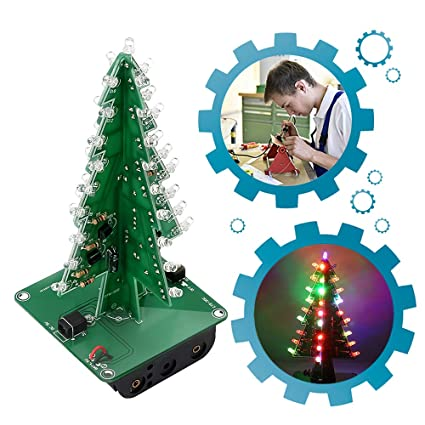 amazon com is icstation diy 3d xmas tree soldering practiceCircuit For Decorating A Christmas Tree Circuit Diagram Centre #5