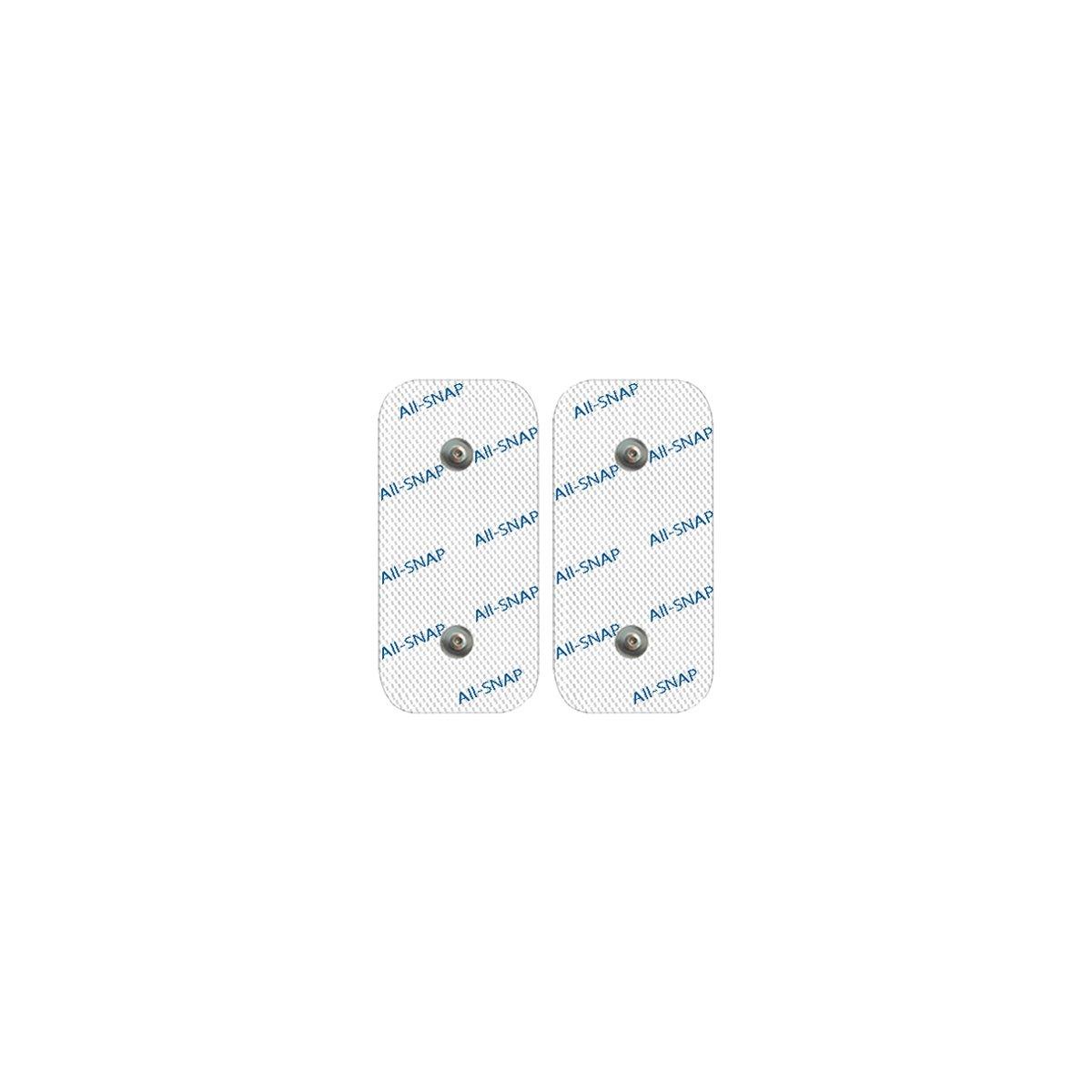 All-SNAP 2 Électrodes Snap, Garanti 100% Compatibles COMPEX - Haute Performance et Longue Durée de Vie (2 électrodes de 50x100mm Dual-Snap) - Economisez jusqu'à 60% par Rapport à l'original !