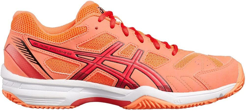 ASICS Gel Padel Exclusive 4SG Coral Rojo Blanco e565q 0619: Amazon ...