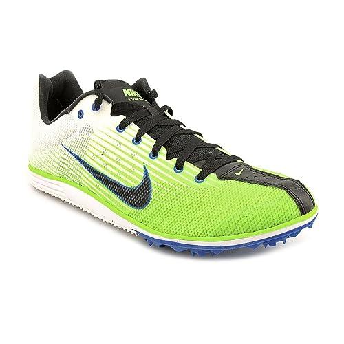 big sale 4d947 a66d8 NIKE Men Zoom Rival D 7 Running Shoe,WhiteGreenBlack,11.5