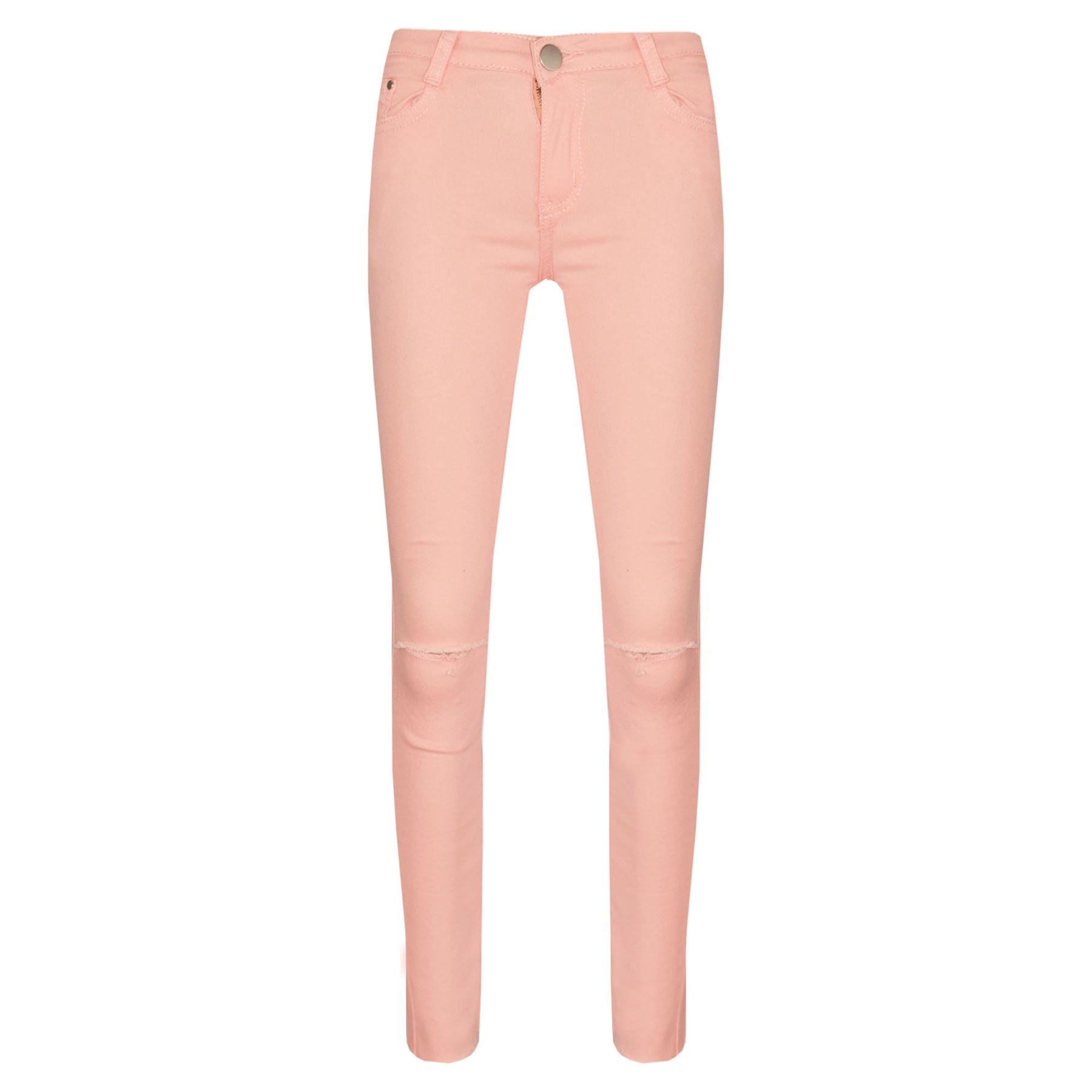A2Z 4 Kids® Girls Stretchy Jeans Kids Peach Denim Ripped Pants Frayed Trousers Age 5-13 Year