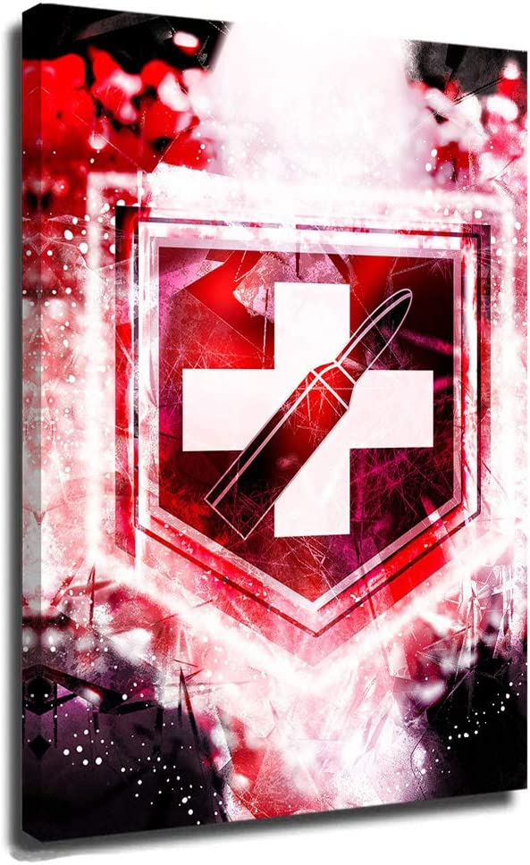 C-All of D-uty Poster Canvas Wall Art Painting Pictures Poster C-All of D-uty World at War Juggernog Perk Abstract Zombies C-All of D-uty Black Ops 24x36 Inch