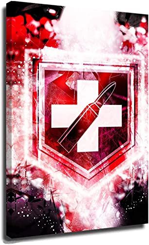 C-All of D-uty Poster Canvas Wall Art Painting Pictures Poster C-All of D-uty World at War Juggernog Perk Abstract Zombies C-All of D-uty Black Ops 24×36 Inch
