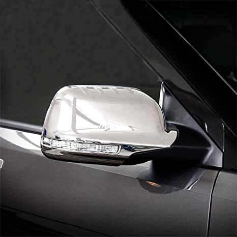 Fit for Ford Explorer 2015 2016 2017 2018 Chrome Rear View Mirror Side Molding Cover Trims
