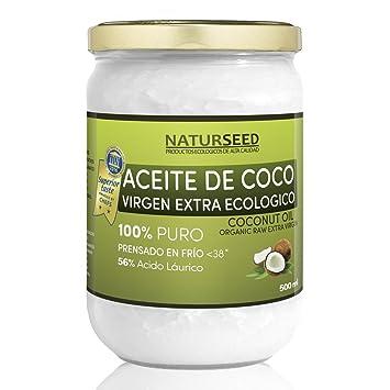 naturseed , olio di cocco extra vergine da 500 ml , cibo biologico ... - Olio Di Cocco Cucina