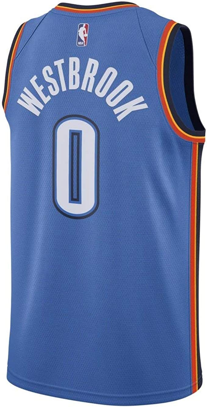 Toddler Nike Russell Westbrook Oklahoma City Thunder Blue Replica Jersey