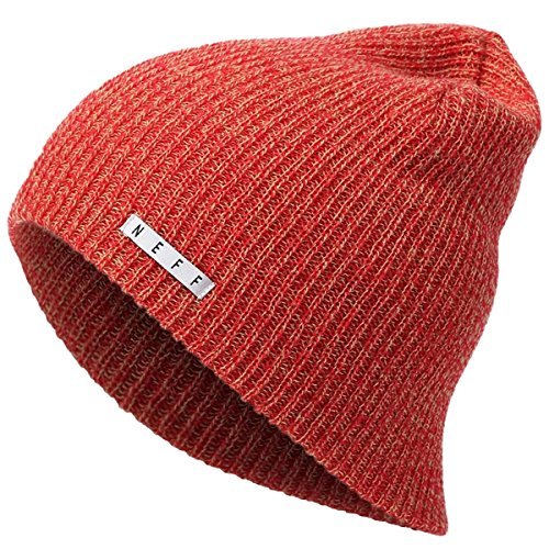 Neff Mens Daily Heather Beanie  Red Tan  One Size