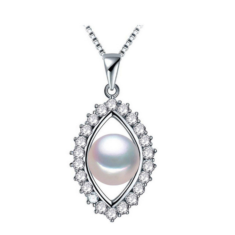 CS-DB Pendants Femme Pink Pearl Silver Necklaces