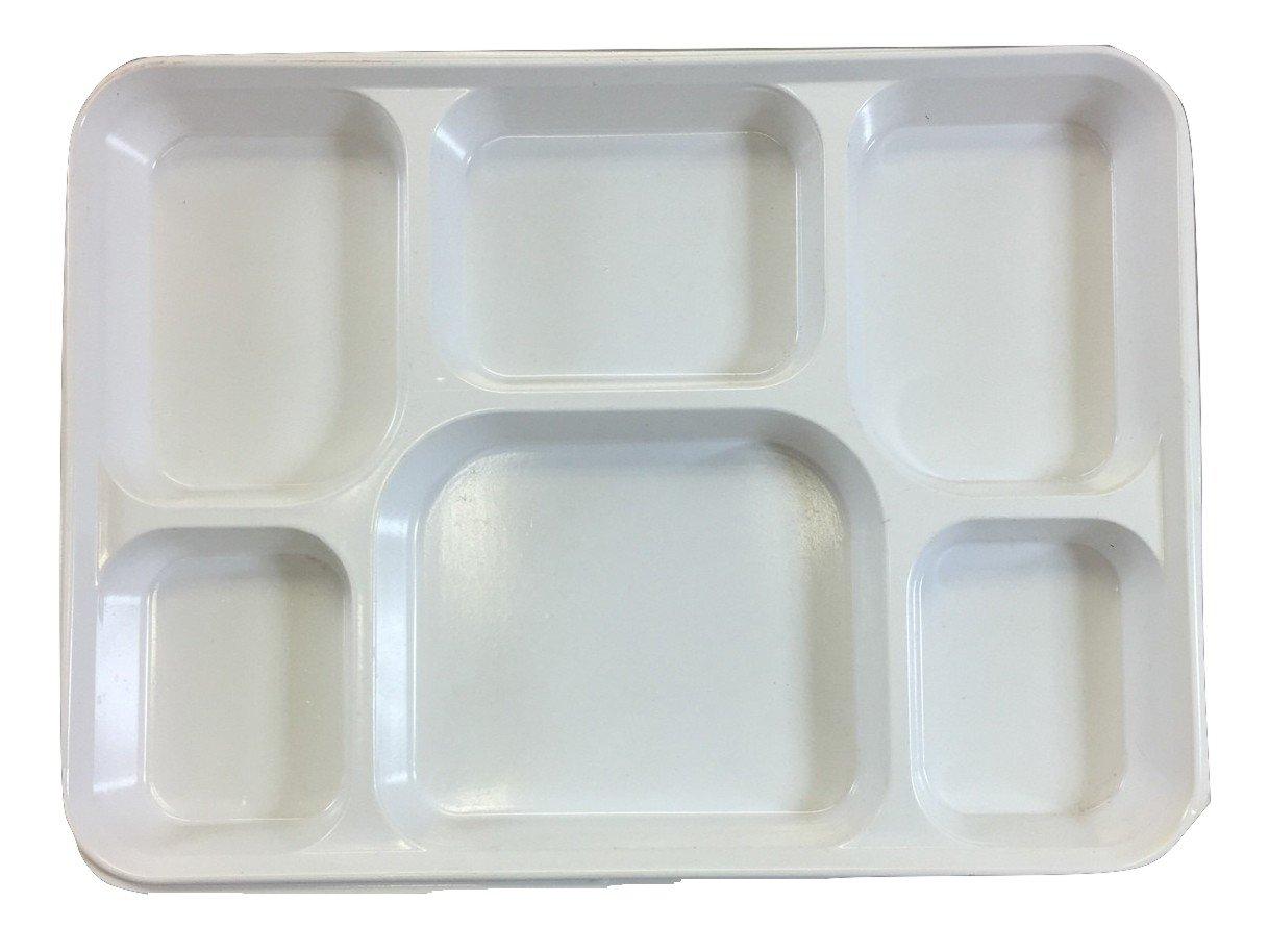 PlasticThali Seven Compartment Disposable Plastic Plate or Thali (200) by Desi Bazar