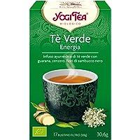 Yogi Tea Infusión de Hierbas Te Verde Energía