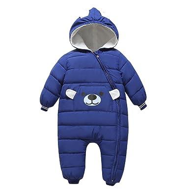 4964b0bf6 Bebone Baby Girls Boys Cartoon Hooded Winter Snowsuit Warm Outerwear ...