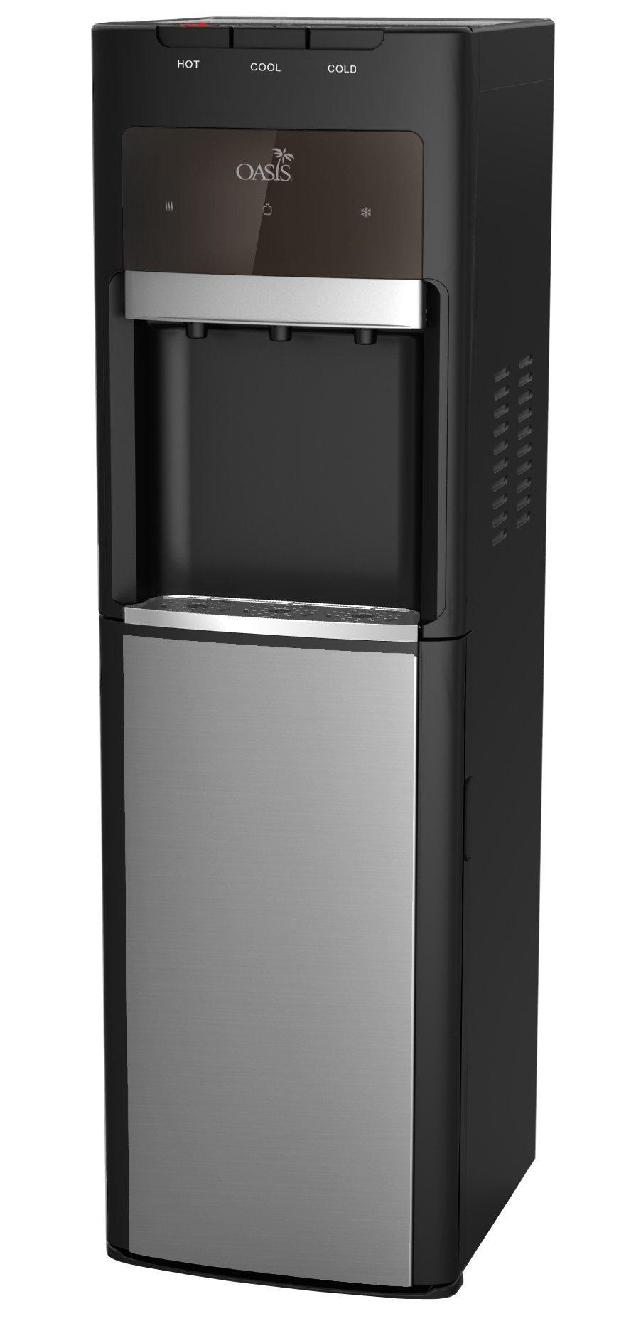 Oasis Bottleless Water Dispenser, Tri-Temp (Hot, Cold, Room-Temp) (6 Stage EZ Change R/O System)