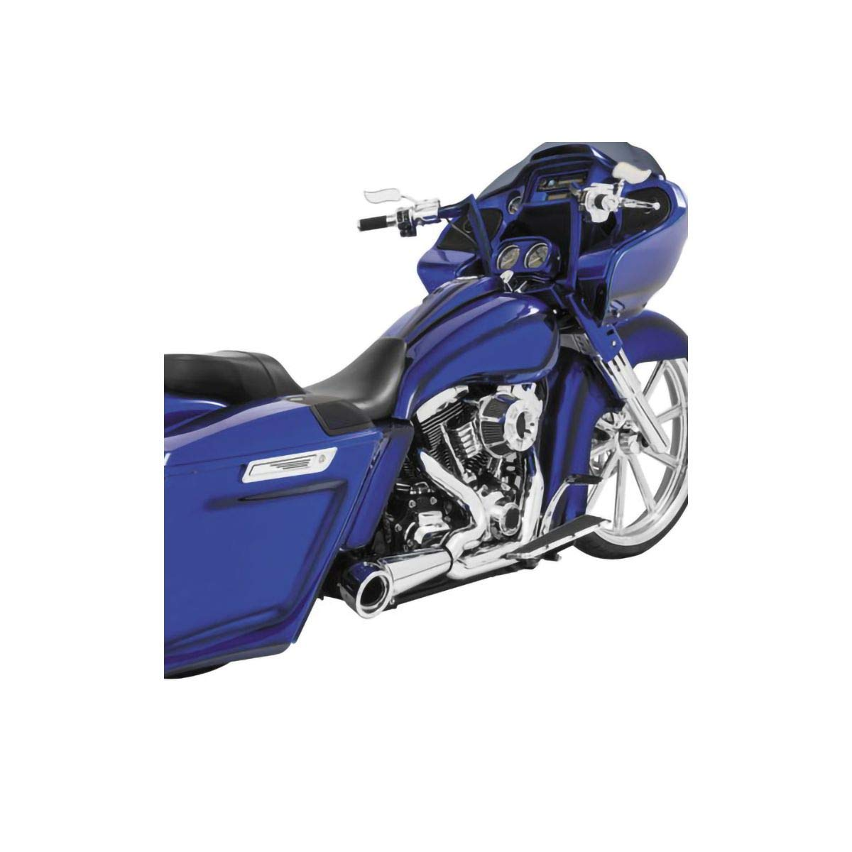 Chrome With Chrome Tip 93-05 HARLEY FXDWG Freedom Performance 2-Into-1 Turnout Exhaust