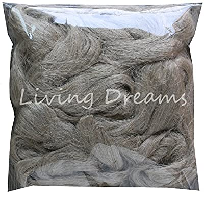 Flax Fiber for Spinning Blending and Fiber Arts. Natural Undyed Flax Linen Top.
