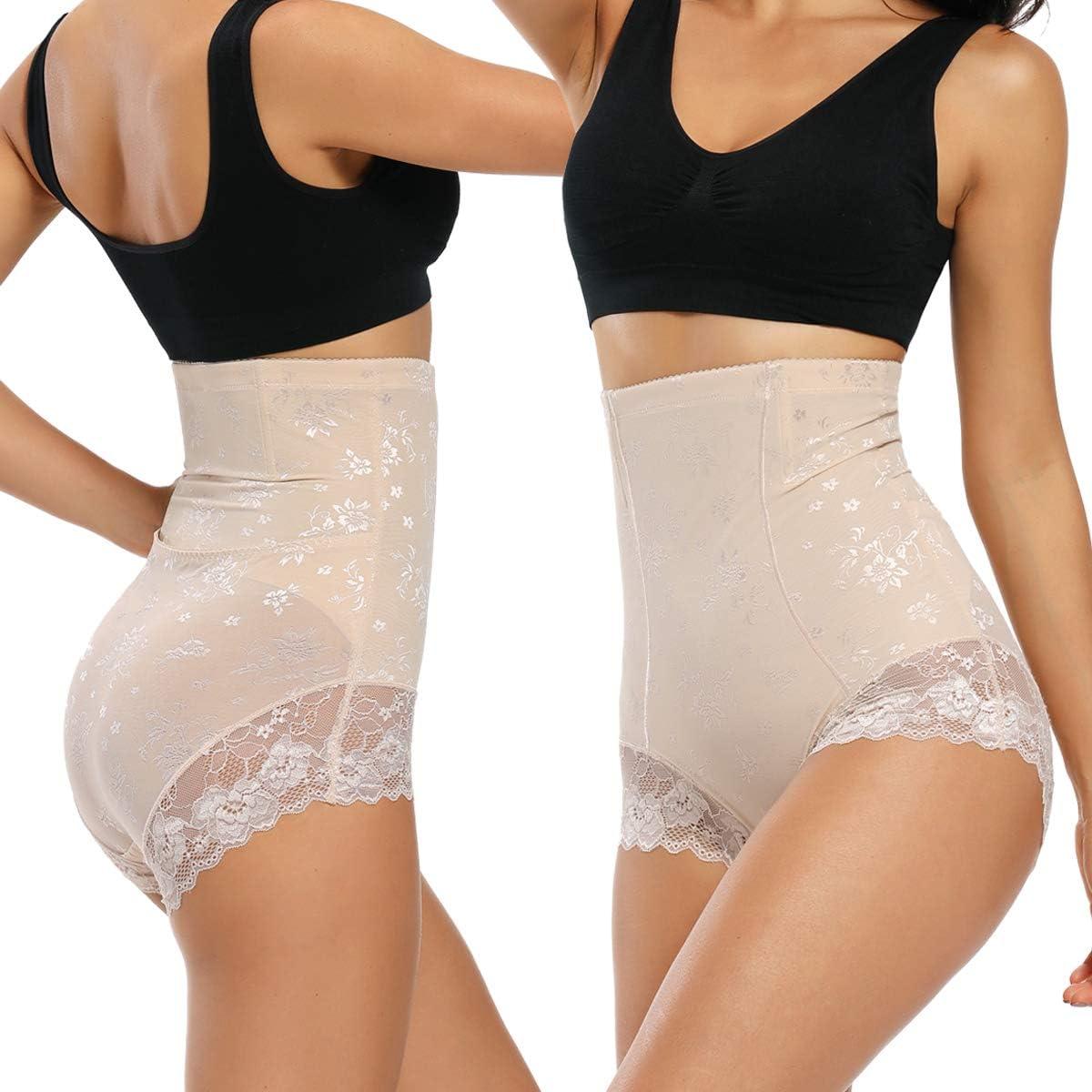 WOWENY Damen Miederslip Bauch Weg Taillenformer Shapewear Figurformende Miederhose Unterw/äsche Taillenslip Formslip Easy Off Lace Slimming Slips