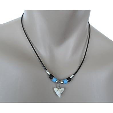 Amazon hawaiian blue bead shark tooth necklace jewelry hawaiian blue bead shark tooth necklace aloadofball Choice Image