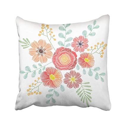 Amazon Com Custom Embroidery Stitches With Wildflowers Spring