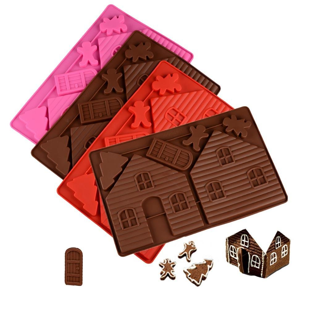 Taloyer Christmas Mini Gingerbread House Mold 3D Cake Cupcake Cookies Cutter Mould DIY Baking Decorating Tools (Random)) by Taloyer (Image #5)