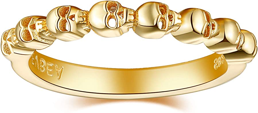 skull jewelry cuff silver ring Open cuff skull ring sterling silver skull stackable ring skeleton ring stacking skull
