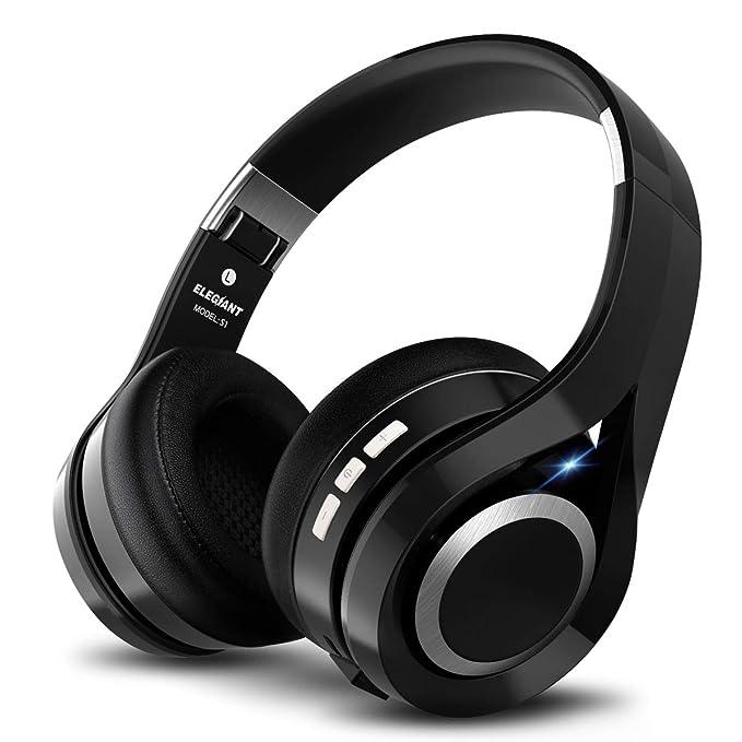 ELEGIANT Cascos Bluetooth Inalámbricos, Auriculares Bluetooth Diadema con Micrófono CVC 6.0 Cancelación Ruido Manos Libre Sonido Nítido Estéreo 16H de ...