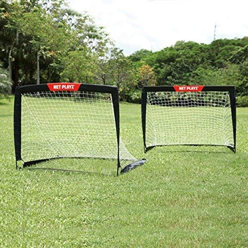 NET PLAYZ Easy Playz Soccer Goal, Set of 2