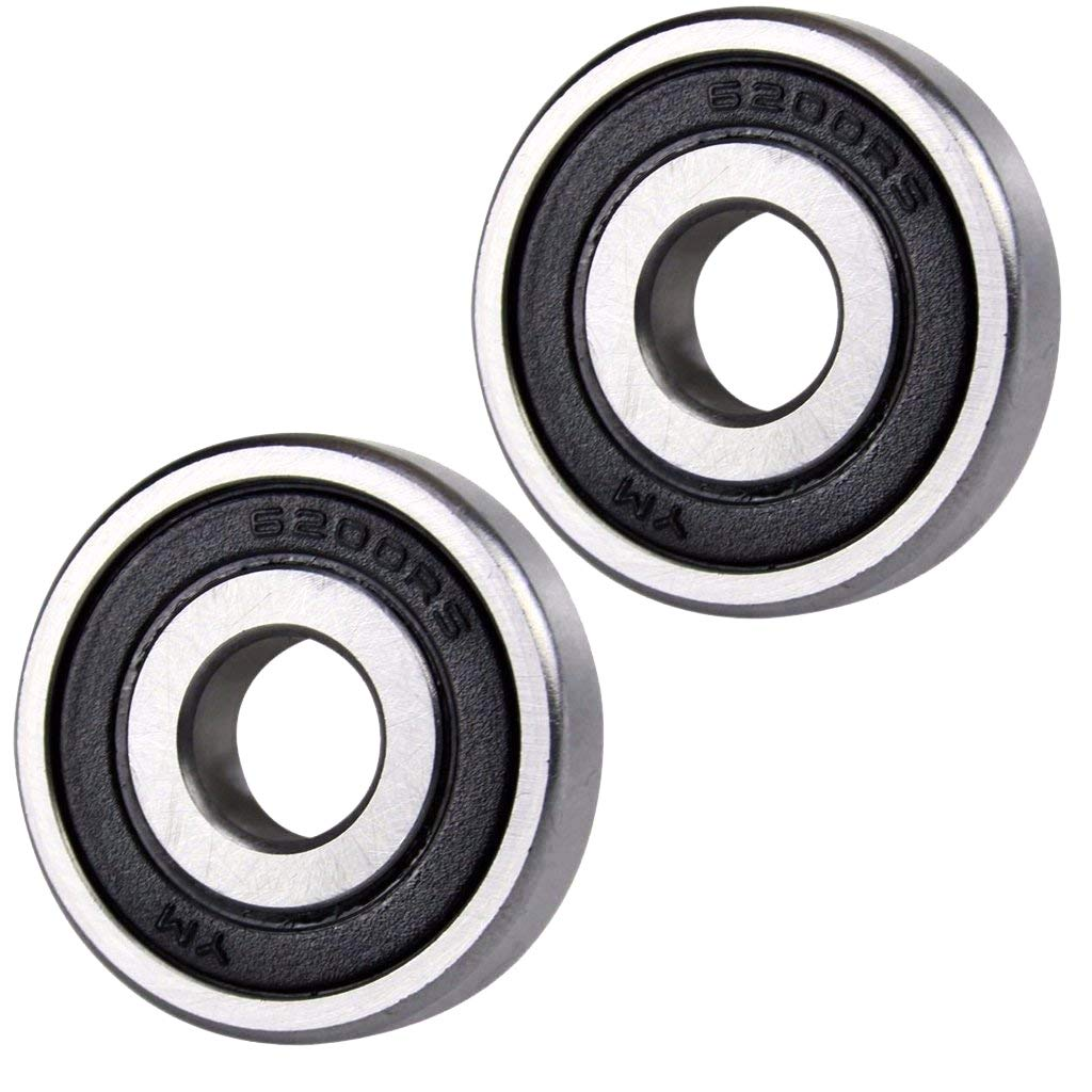 ZXTDR 2pcs 6200RS Bearings Rubber Sealed Deep Groove Ball Bearings For Pit Dirt Bike (30x10mm)