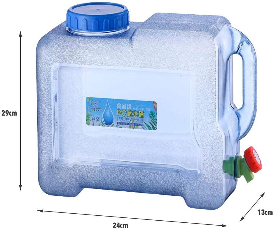 Almacenamiento de Agua Jarra contenedor de Agua Plegable sin BPA para Acampar QUUY Contenedor de Agua para Exteriores Garrafa con Grifo