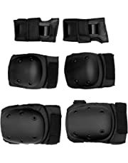 MagiDeal 6 Pieces Universal Kids Adult Skateboard/Skate/Skating Knee/Elbow/Wrist Pad Protective Guard Set - Adjustable Size