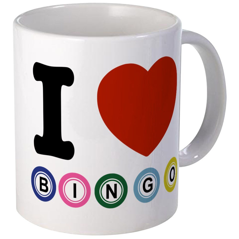 CafePress - I Love Bingo Mug - Unique Coffee Mug, Coffee Cup
