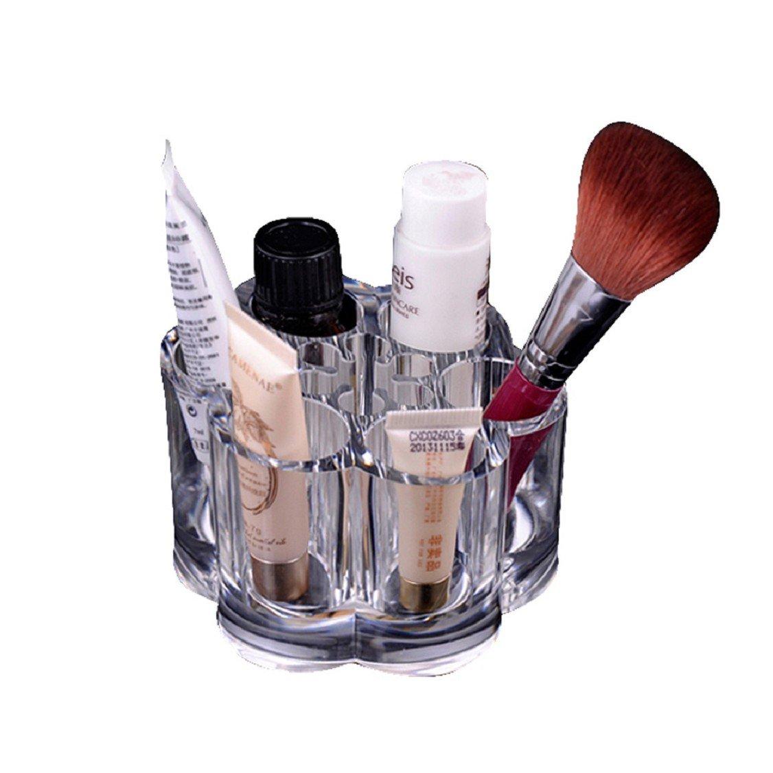 3f4e659f653c Amazon.com : Egmy Fashion Plum Flower Clear Acrylic Shaped Cosmetic ...