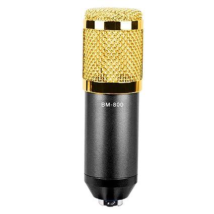 DJG Tarjeta de Sonido Micrófono de condensación Micrófono de ...