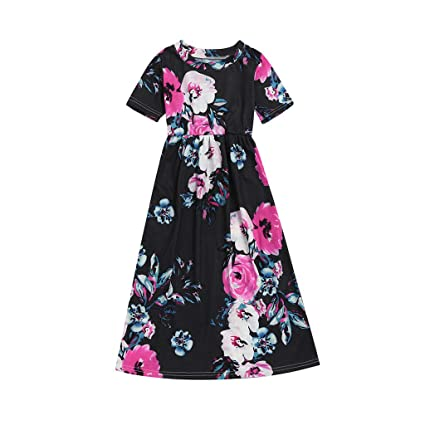 36cdcd4e26e06 Amazon.com : ❤Ywoow❤ for 1-10 Years Old Dresses, Girl Kid Flower ...