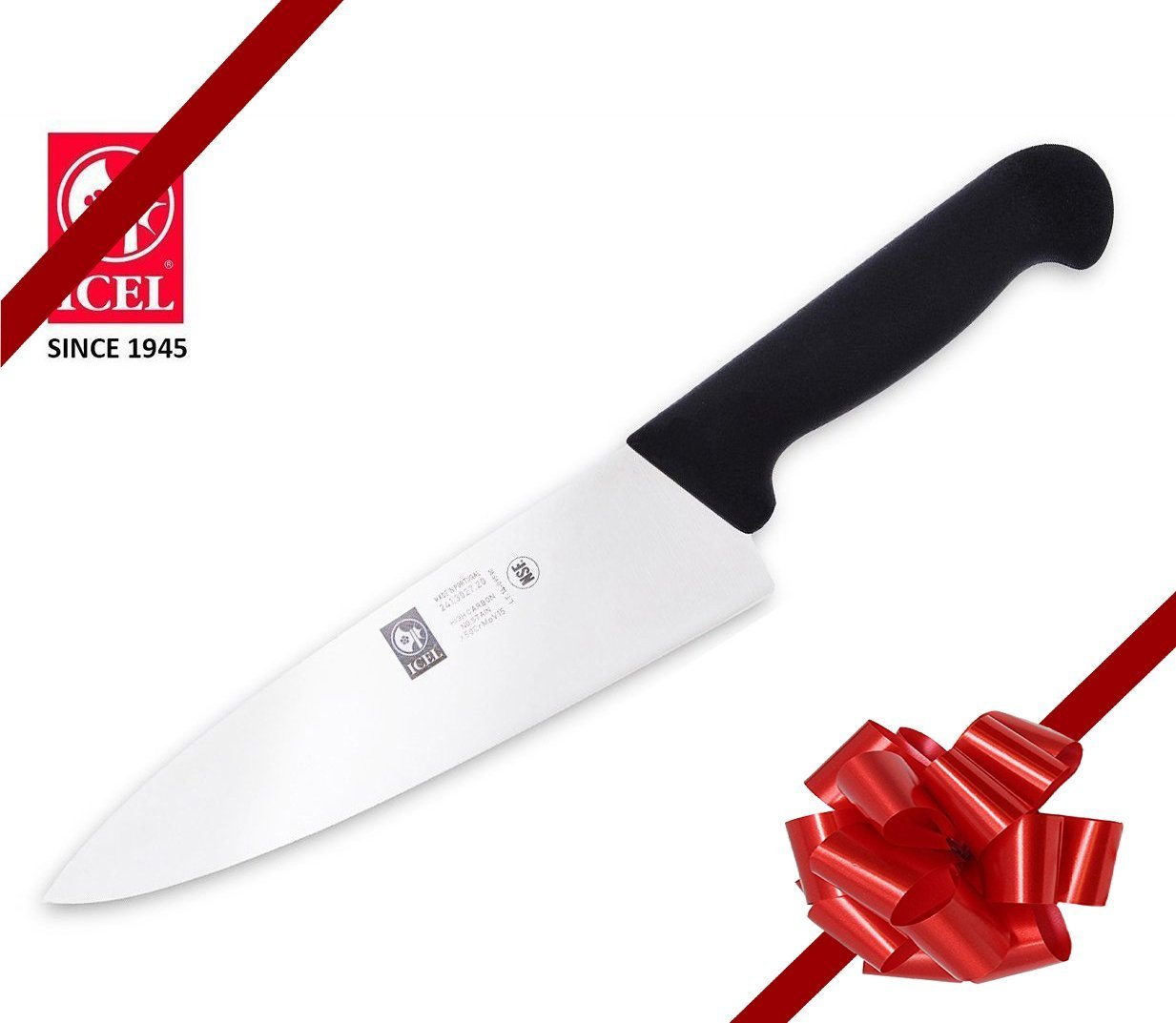 ICEL Chef knife Cutlery 8-inch Chefs Knife.(Knife Care, Sharpening Instructions Included) Great for chopping, mincing and dicing