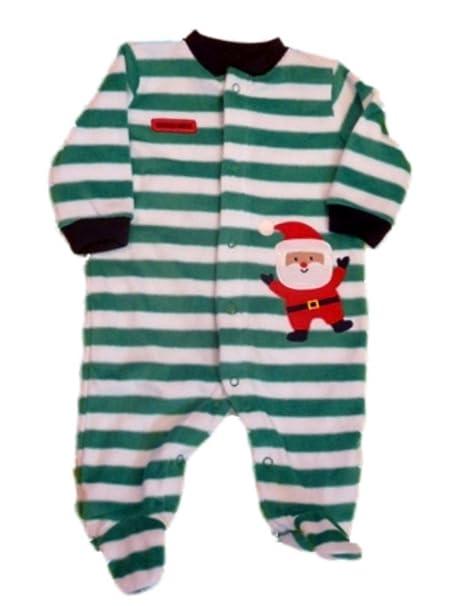 e3eb6fc30 Amazon.com  Carter s Infant Holiday Sleeper Plush Green Stripe ...