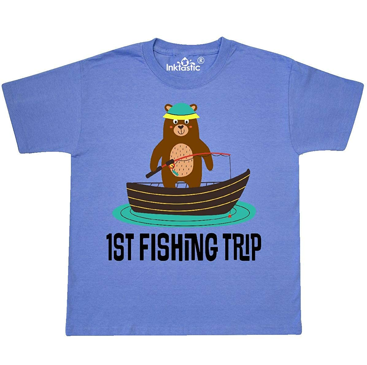 inktastic My First Fishing Trip with My Grandpa Baby T-Shirt