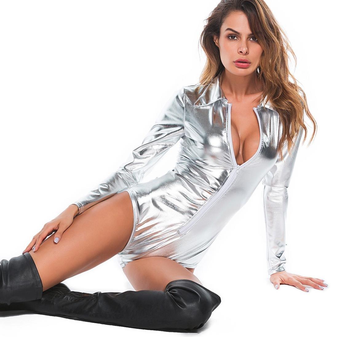 Amazon.com: Vovotrade Women Lingerie Set Sexy V Neck Clubwear PU Leather Siamese Underwear Bodysuit Alluring Intimates: Clothing