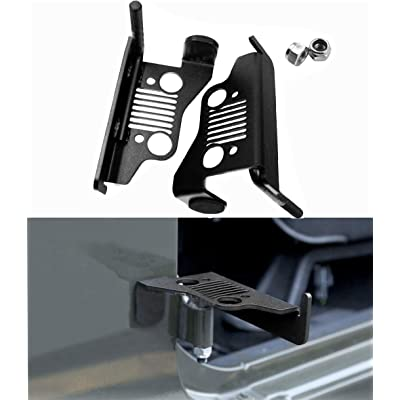 WYYINLI Black Pack of 2 Grill Front Pegs Hollow A Style Door Hinge Foot Rest Pedal fit 2007-2020 Jeep Wrangler (Rest Pedal B): Automotive