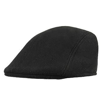 Mens Baker Boys Cabbie Newboy Flat caps Peak Herringbone Tweed Caps
