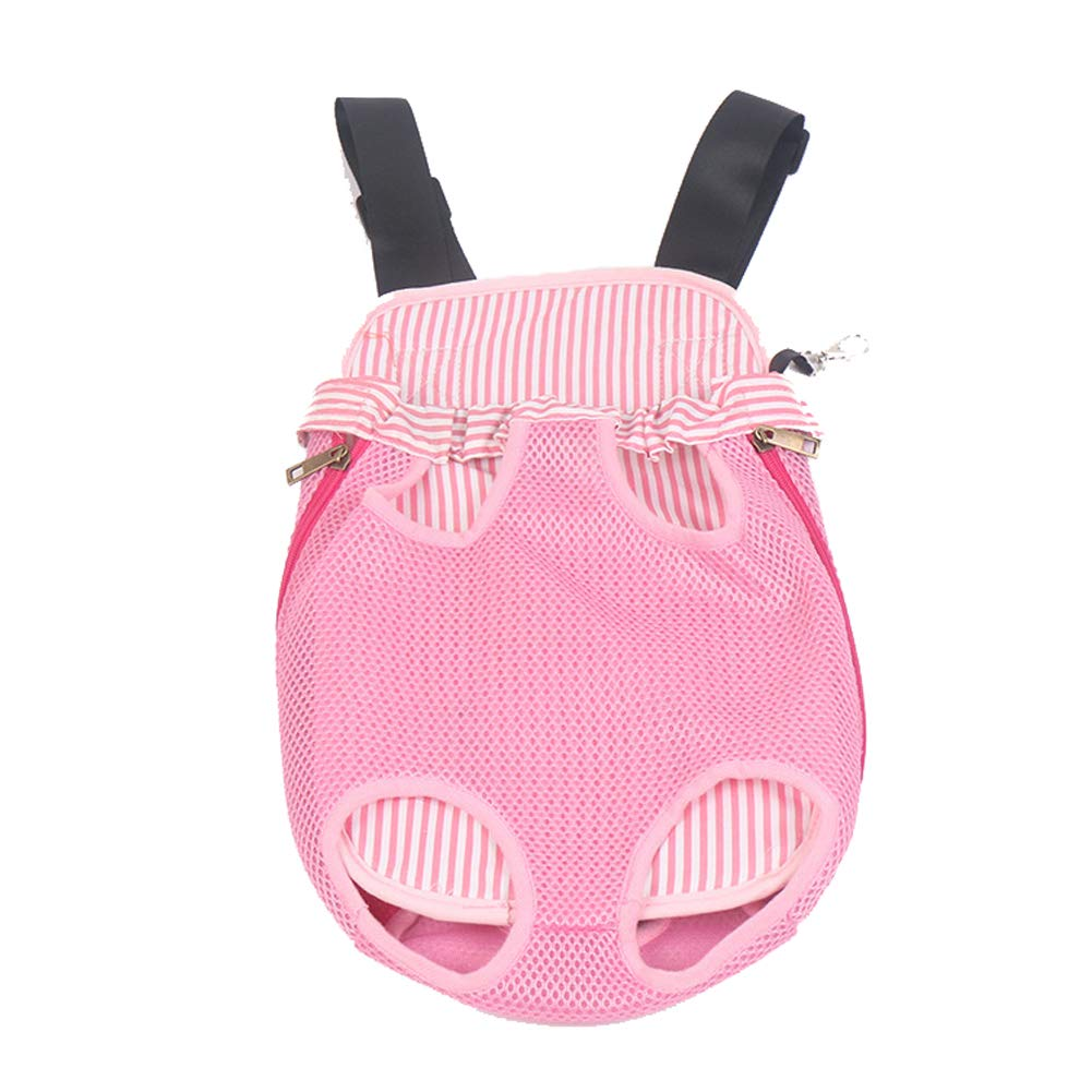 Pink Pet Carrier Dog Backpack Four-Hole Chest Out Bag