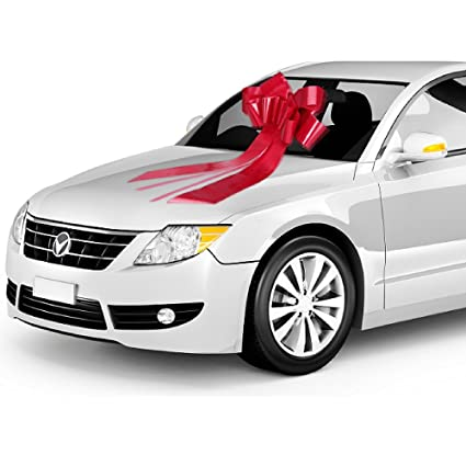 Amazon Com Zoe Deco Big Car Bow 23 Red 1 Pack Gift Bows