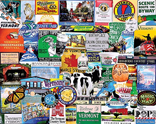 - White Mountain Puzzles I Love Vermont - 1000 Piece Jigsaw Puzzle