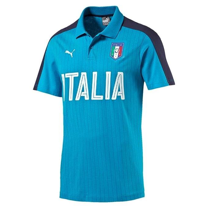 FIGC Italia Fanwear Polo atomic blue-peacoat 16/18 Italy Puma XL ...